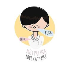 Instagram media misspatina - Spotted! A lovely illustration of Love Cat Shirt by talented @bisc_otti  thanks! #catlovers #misspatina