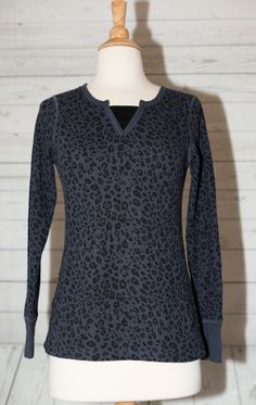 ee597b75d7d3f Danskin Now Sz S Small 4 6 Cheetah Animal Print Pullover Fitted Top Shirt