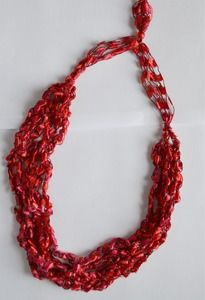 Simple Ladder Yarn Necklace How To Knitting And Some