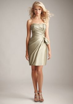satin-strapless-sheath-short-bridesmaid-dress