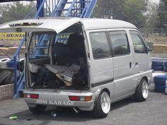 photo by deanweltner Carros Suzuki, Mini 4x4, Suzuki Carry, Kei Car, Old School Vans, Saab 900, Cool Vans, Mini Trucks, Small Cars
