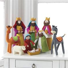 Add some adorability to your Christmas décor with the RAZ Imports in. Nativity Set - Set of 9 . This nativity set is crafted from. Christmas Nativity Set, Felt Christmas Ornaments, Christmas Holidays, Christmas Crafts, Christmas Decorations, Nativity Crafts, Child And Child, Felt Crafts, Amazon