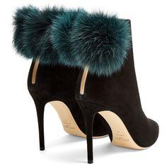 c5e74130a89 Jimmy Choo Tesler 100mm fox-fur embellished suede ankle boots ( 1