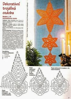 Best 12 Star Christmas: crochet ornaments – with diagram by Jeroen En Franciska Jonkman – SkillOfKing. Crochet Snowflake Pattern, Christmas Crochet Patterns, Crochet Christmas Ornaments, Crochet Stars, Crochet Snowflakes, Crochet Motifs, Crochet Diagram, Christmas Snowflakes, Thread Crochet