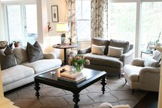 Traditional Living Room photo by Kristy Kay