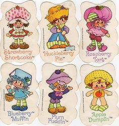 Strawberry+Shortcake+Characters+1980s   Strawberry Shortcake Vintage Card Game (by Ursala Erdbeer )