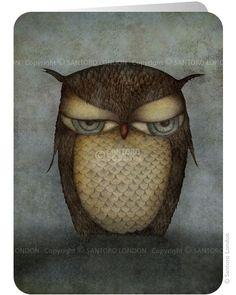 Owl - Santoro's Eclectic Cards