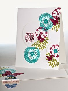 Very neat design with the circles. petal parade Stampin' Up!