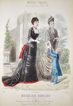 Bustle Era Fashion ca. 1879?