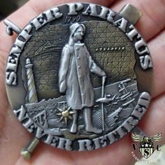 Royal Lion Silver Round Necklace US Coast Guard Semper Paratus Emblem