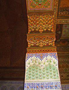 Decorazioni marocchine in dettaglio