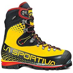 La Sportiva Nepal Cube GTX Boot Yellow Black 405 *** Visit the image link more details. (This is an affiliate link) Trekking Shoes, Hiking Shoes, Snow Boots, Winter Boots, Nepal, Mountaineering Boots, Shoe Sites, Trail Shoes, Hiking Gear