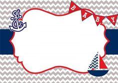 plantilla para invitacion de baby shower de marinero