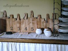 The numbered bread slabs