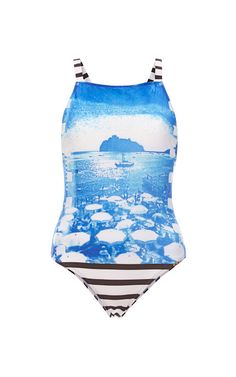 Printed and Striped Swimsuit by Salinas - Moda Operandi