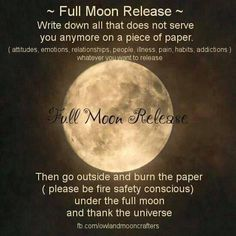 something excellent to do on the full moon/Super Moon. Keep your intentions and wishes pure and clear…. as it is a very powerful time. Moon Moon, New Moon, Moon Phases, Moon Time, Full Moon Ritual, Full Moon Spells, Wiccan Spells, Wiccan Beliefs, Wiccan Quotes