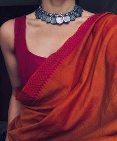 New style outfits classic simple Ideas Sari Design, Design Design, Saree Accessories, Saree Jewellery, Silver Jewellery, Tanishq Jewellery, Silver Rings, Outfits Winter, Modern Saree