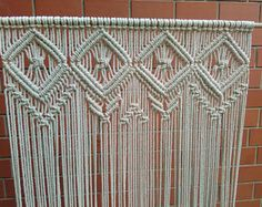 Macrame curtain Wedding backdrop Room divider Macrame Wall hanging