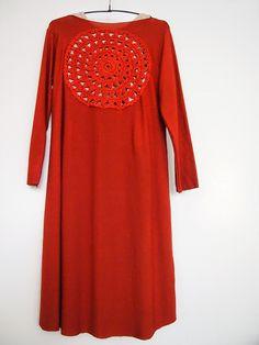 omⒶ KOPPA: Flower Circle terracotta dress