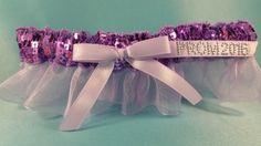 Lavender Sequin Garter #simplycharming #prom #prom2016 #lavender #garter