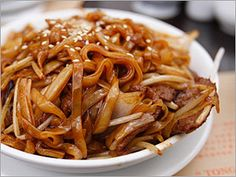 Asian Noodles with Pork and Peanut Sauce