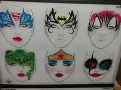 Emily schmidt Face Painting Stencils, Face Painting Designs, Body Painting, Painting Pictures, Pictures To Paint, Face Paintings, Face And Body, Body Art, Halloween Face