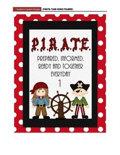 Parent information night power point template pirate theme this is a pdf file which includes 25 numbered take home folder covers and one non numbered cover easy to print and add some pirate goodness to yo toneelgroepblik Images