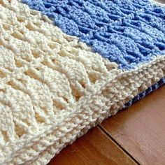Shell Stitch Baby Blanket - crochet pattern for a pretty baby present.