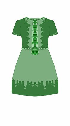 Dress green liquid