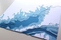 Buzzards Bay 8 x 10 couches papercut art
