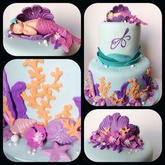 Mermaid baby shower cake!!