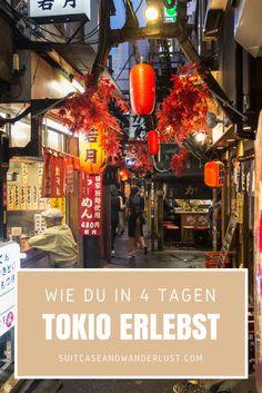 Tokio erleben: in 4 Tagen die wichtigsten Sehenswürdigkeiten entdecken