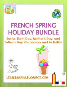 Easter, Earth Day, Mother's Day, and Father's Day Vocabulary and Activities! Vocabulary lists with clip art images!