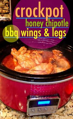 BBQ Honey Chipotle Crockpot Wings, Baked Potatoes, & Zucchini Strips – Simply Taralynn