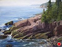 Acadia in August by Kathleen Dunphy Oil ~ 12 x 16