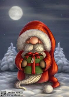 Funny Santa Claus Pictures : Christmas is a jolly holiday season and we do love Father Christmas who is known as Santa Claus. Santa claus is known to ride his reindeer sledge and bring gifts to kids Christmas Gnome, Father Christmas, Christmas Art, Winter Christmas, Vintage Christmas, Christmas Gifts, Christmas Decorations, Xmas, Christmas Ornaments