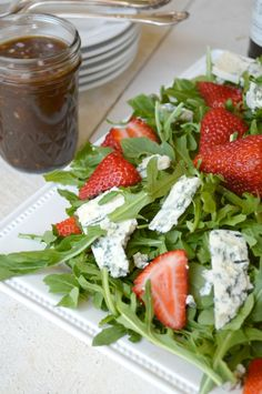 Arugula, Strawberry, Blue Cheese Salad with Sherry Vinaigrette Recipe From Socals Famed Restaurant Lemonade