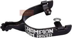 """Espora Metalab Santa Fé Champion Team Roper Level 2   Espora fabricada em aço, roseta de 8 pontas, descrição em prata, garfo 1"""" (2,54cm) de largura e cão com 1-1/2"""" (3,81cm) de comprimento."""