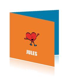 getekend-geboortekaartje-jongen-blij-hart-oranje