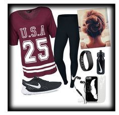 """Gym"" by sarahclarke4830 on Polyvore featuring New Look, NIKE, Fitbit, Skullcandy, women's clothing, women, female, woman, misses and juniors"