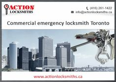Action Locksmiths offer Commercial Locksmith service in Toronto to take care all of your security concerns. If you are looking for Industrial emergency locksmith experts & 24 hours Commercial Locksmith Scarborough at Cost-effective annual maintenance and repair contracts, Action Locksmiths come up as the most reliable option for you.