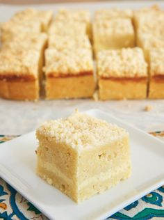 Lemon Cream Cheese Coffee Cake is bursting with sweet lemon flavor and filled with a layer of sweetened cream cheese. A great anytime treat! - Bake or Break