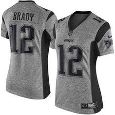 154.95 - Women's New England Patriots Tom Brady Nike Gray Gridiron Gray Limited Jersey