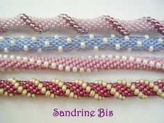 crochet rope experiments - different stringing patterns. #seed #bead #tutorial