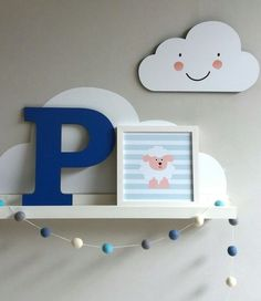 Placa Nuvem Menino 3rd Baby, Baby Kids, Unique Shelves, My Little Baby, Baby Art, Baby Boy Rooms, Baby Room Decor, Girl Room, New Baby Products