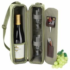 Picnic at Ascot Hamptons Collection Wine Carrier; Amazon does it again!