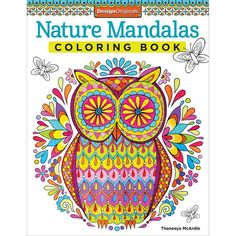 Design Originals Nature Mandalas Coloring Book. Experience a coloring book printed on high-quality, extra-thick paper to eliminate