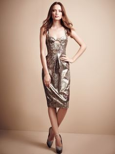 Prorsum Metallic Brocade Dress by Burberry Prorsum - wowow. #fashion #style