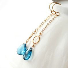 London Blue Topaz Drop Earrings, $68, now featured on Fab.