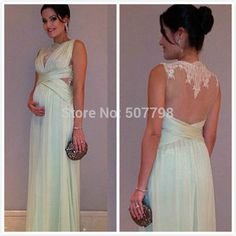 Online Shop Lace Pleated Maternity Vestidos Gowns Long Chiffon 2014 Transparent Evening Dresses for Pregnant Women Maternity Prom Dresses, Maternity Evening Gowns, Cheap Evening Dresses, Maternity Fashion, Nice Dresses, Bridesmaid Dresses, Formal Dresses, Dresses For Pregnant Women, Pregnant Outfits